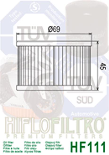 Hiflo Oil Filter, 413/MA6/KK9/ - KEA (HF111)