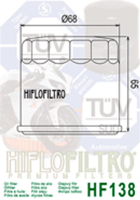 Hiflo Oil Filter, SF3009 Chrome 34E00/06B00 (HF138C)