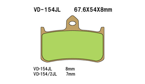 Vesrah Disc Pads VD1542JL, Sintered Metal Brake Pads