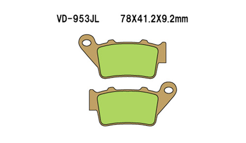 Vesrah Disc Pads VD953JL, Sintered Metal Brake Pads