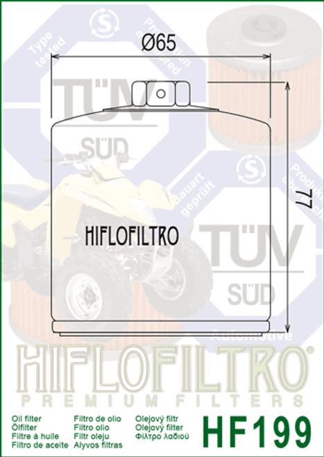 Hiflo Oil Filter, Polaris 850 Sportsman (HF199)