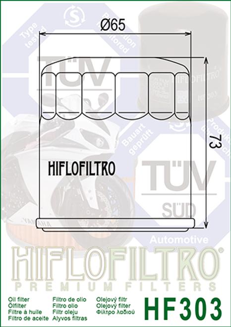 Hiflo Oil Filter, MM5/MM9/MT7/ - 10/59/1063/1066/3FV/5GH H (HF303)