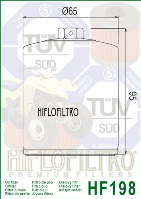 Hiflo Oil Filter,  Polaris Sportsman 700 (HF198)