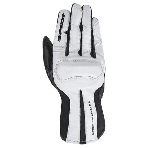 Spidi Charm Womens Leather Motorcycle Gloves, White/Black