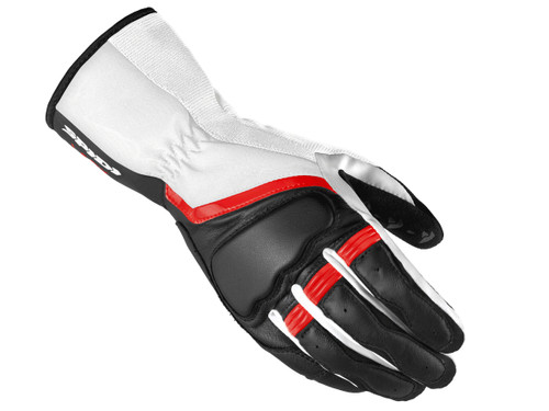 Spidi Grip 2 Womens Leather Motorcycle Gloves, White/Black/Red