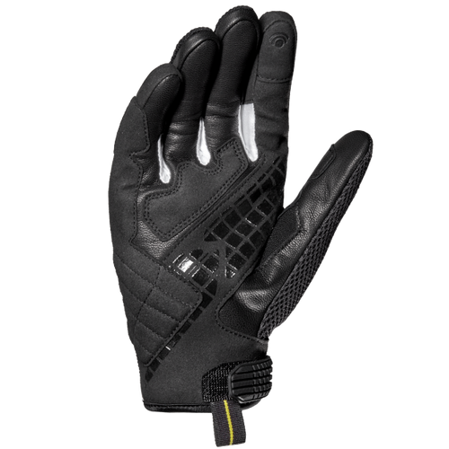 Spidi G-Carbon Motorcycle Leather Short Gloves, Black/White, XXL