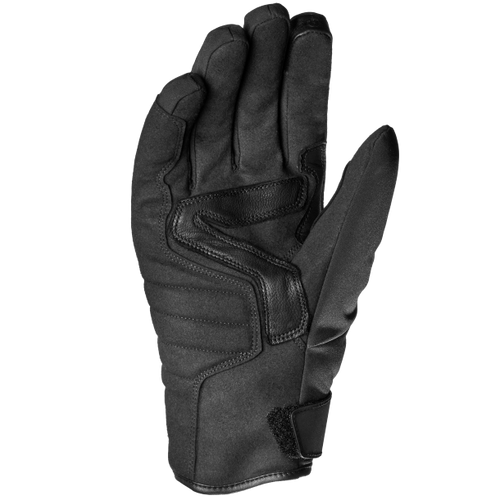 Spidi Bora Waterproof Leather Motorcycle Short Gloves, Black