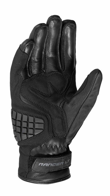 Spidi Ranger LT Leather Short Motorcycle Gloves, Black