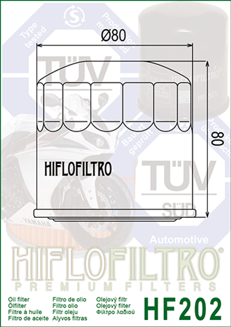 Hiflo Oil Filter,  Oil filter 679/MB0/MB3/ MJ0/MG7/1054/1056 (HF202)