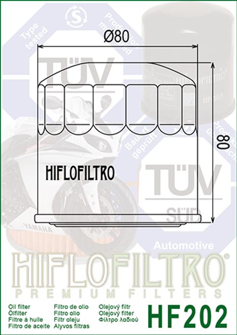 Hiflo Oil Filter,  Oil filter 679/MB0/MB3/ MJ0/MG7/1054/1056 (HF202)