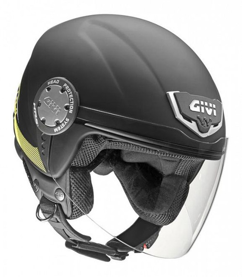H104 Scooter Open Face Helmet - Matt Black , XS only 54cm