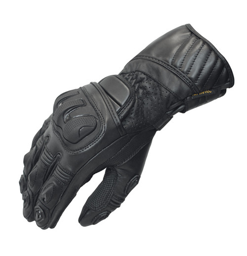 Javelin Motorcycle Glove - Leather Sport, Black, SMALL Closeout Sale!