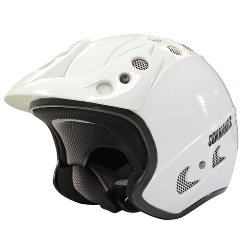 Commander - Scooter/ATV Open Face Jet Helmet - Gloss White