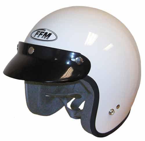 FFM JETPRO - Open Face Helmet - Gloss Black - CLOSEOUT SALE
