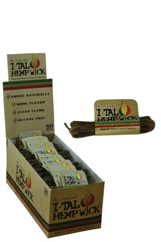 I-TAL Rolled Hemp Wick 50 ct.
