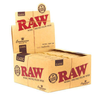 RAW Connoisseur King Size Rolling Papers with Tips 24 ct.
