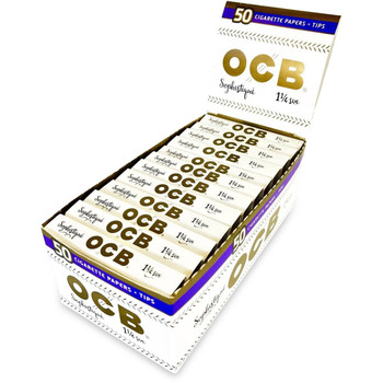 OCB Sophistique 1 1/4 Size With Tips 24 ct. Box