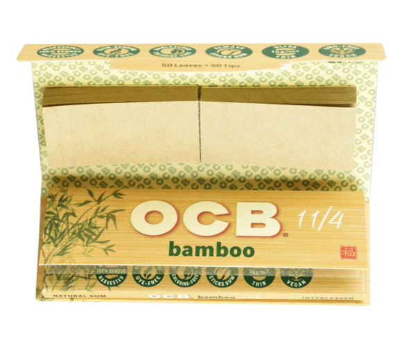 "OCB Bamboo 1 1/4"" Papers With Tips 24 ct."