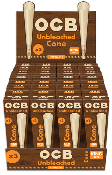 OCB Virgin Cones King Size 96 ct.
