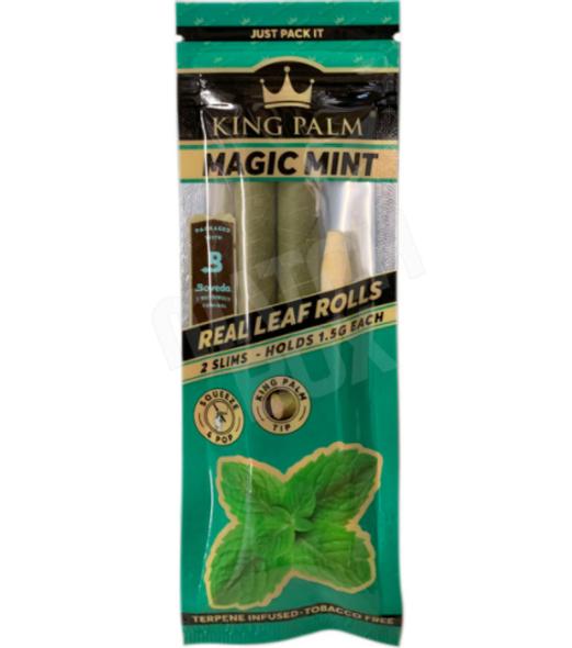 King Palm Slim Magic Mint Flavored - 20 Packs Per Box, 2 Wraps Per Pack