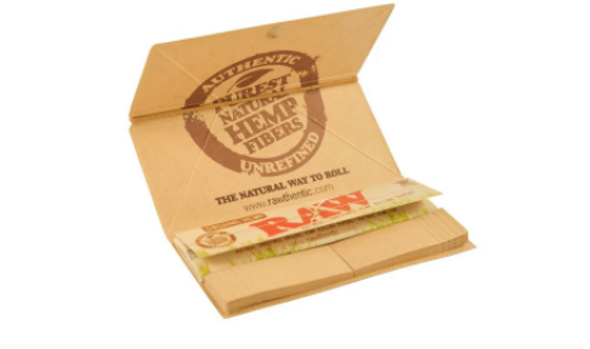 RAW Organic Hemp Artesano Rolling Papers with Tips King Size - 15 ct.