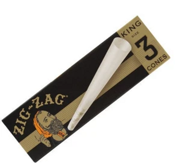 Zig Zag Pre-Rolled Cones King Size - 36 Packs Per Box, 3 Cones Per Pack