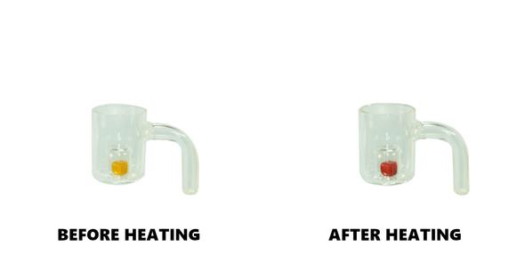 Flat Top Quartz Banger with Color Change Reactor Core 14mm Male