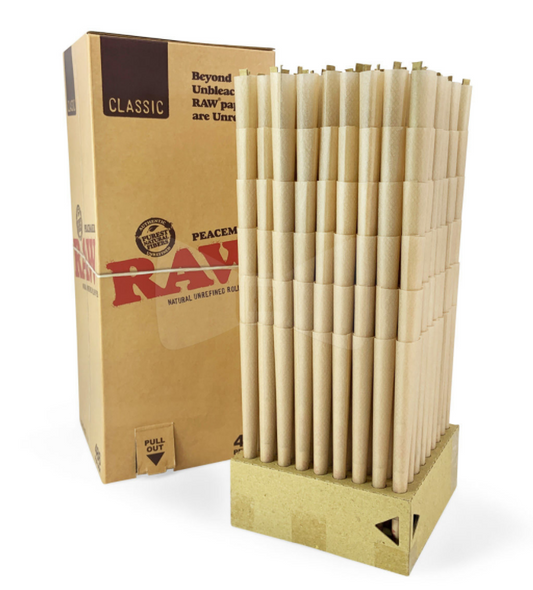 RAW Classic Bulk Pre-Rolled Cones Peacemaker Size - 468 ct.