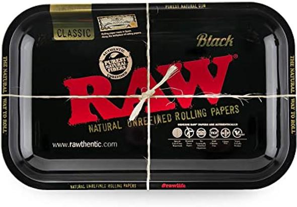"RAW Black Rolling Tray Metal Large 11"" x 13.5"""