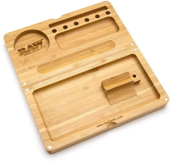 RAW Bamboo Rolling Tray With Magnet