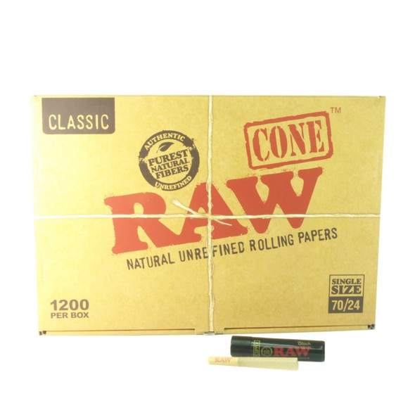 Raw Classic Bulk Pre-Rolled Cones 70mm 1200ct.