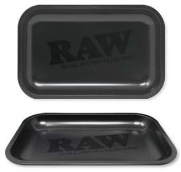 "RAW Metal Rolling Tray Black Matte Small 7"" x 11"""