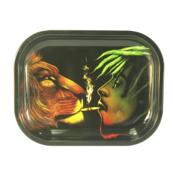 Metal Rolling Tray Lion of Judah