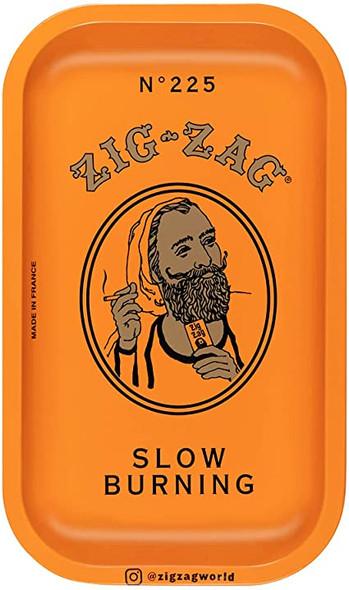 """Zig Zag Orange Metal Rolling Tray 7"""" x 11"""""""