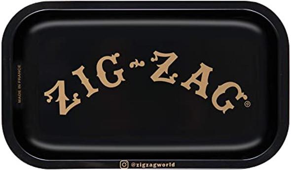"Zig Zag Black Metal Rolling Tray 7"" x 11"""