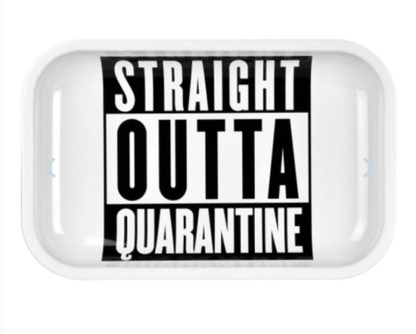 "Pulsar Straight Outta Quarantine Metal Rolling Tray 7"" x 11"""