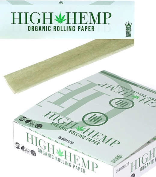 High Hemp Rolling Papers King Size - 25 ct.