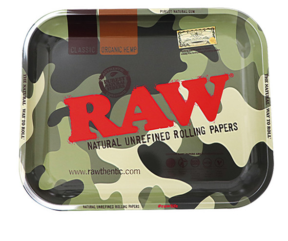 """RAW Camouflage Metal Rolling Tray 11"""" x 13.5"""""""