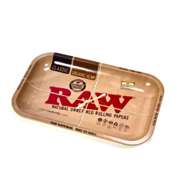 "RAW Logo Metal Rolling Tray 5"" x 7"""