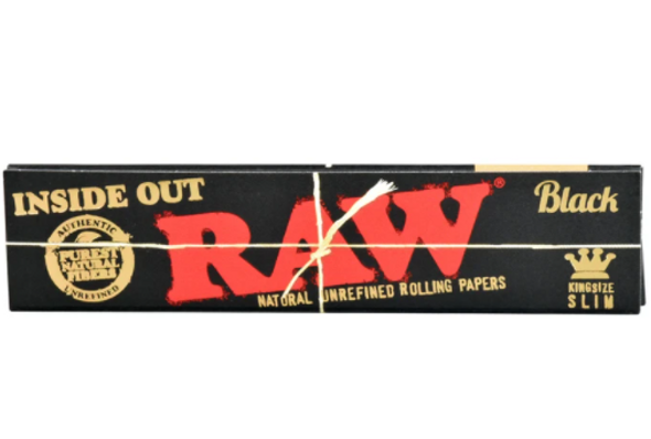 "RAW Black Rolling Papers ""Inside Out"" Limited Edition King Slim - 50 ct."