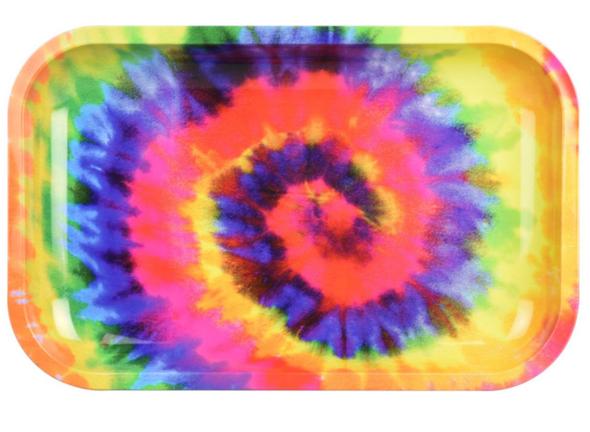"Pulsar Spiral Dye Metal Rolling Tray 7"" x 11"""