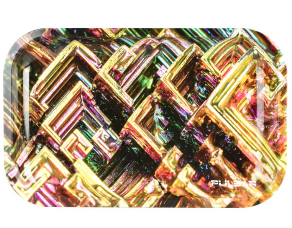 """Pulsar Bismuth Grid Metal Rolling Tray 7"""" x 11"""""""