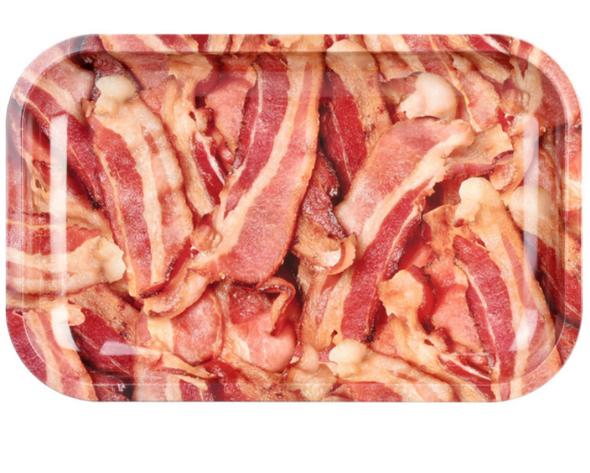 "Pulsar Makin' Bacon Metal Rolling Tray 7"" x 11"""