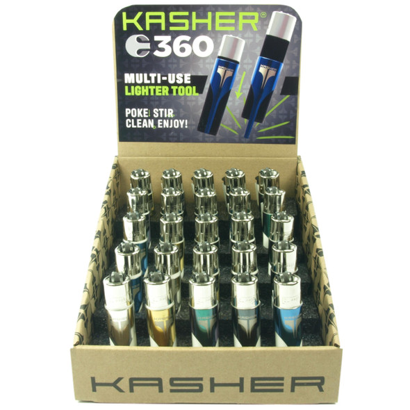 Kasher 360 - Stadium Style Display with Clipper lighters - 25 ct.