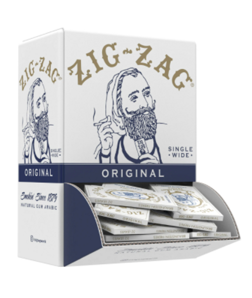"""Zig Zag White Rolling Papers 1½"""" Size - 48 ct."""