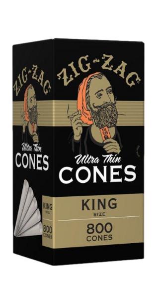 Zig Zag Bulk Pre-Rolled Cones King Size - 800 ct.