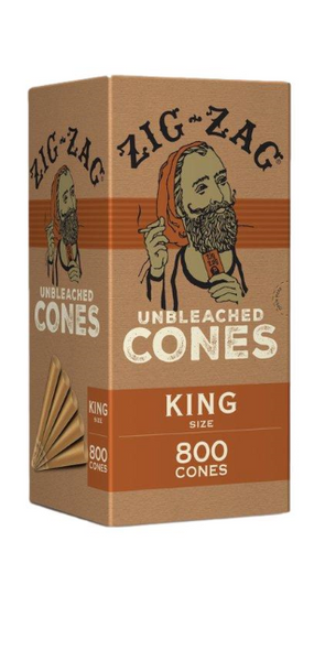 Zig Zag Unbleached Bulk Pre-Rolled Cones King Size - 800 ct.