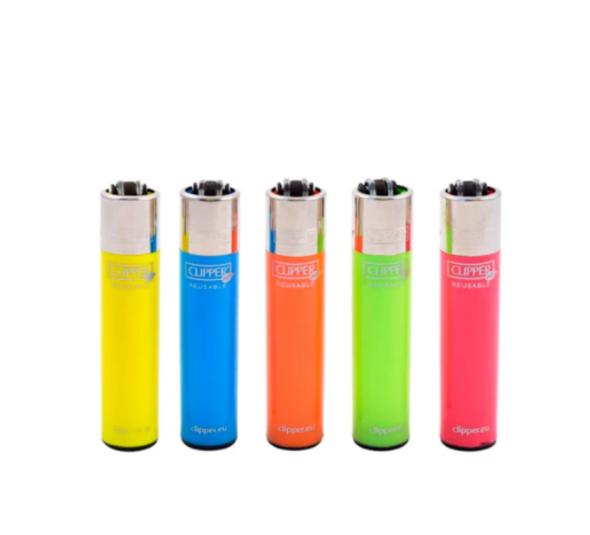 Clipper Lighter Assorted Fluorescent Solids 48 ct.