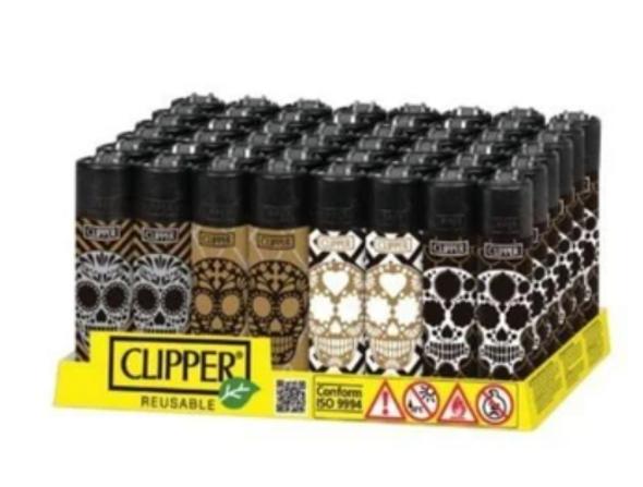 Clipper Lighter New Rotational Skulls 7 48 ct.