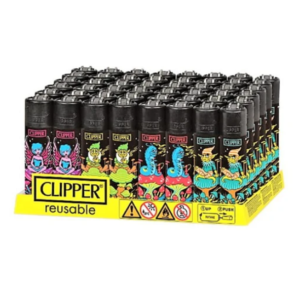 Clipper Lighter New Rotational Psychedelic 14 48 ct.